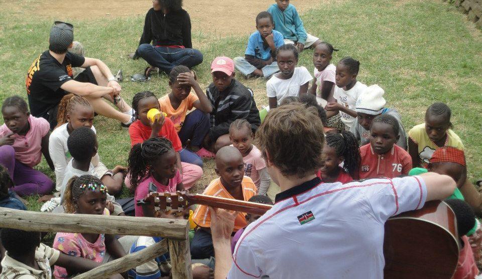 Composer Arron Storey travel in Kenya.